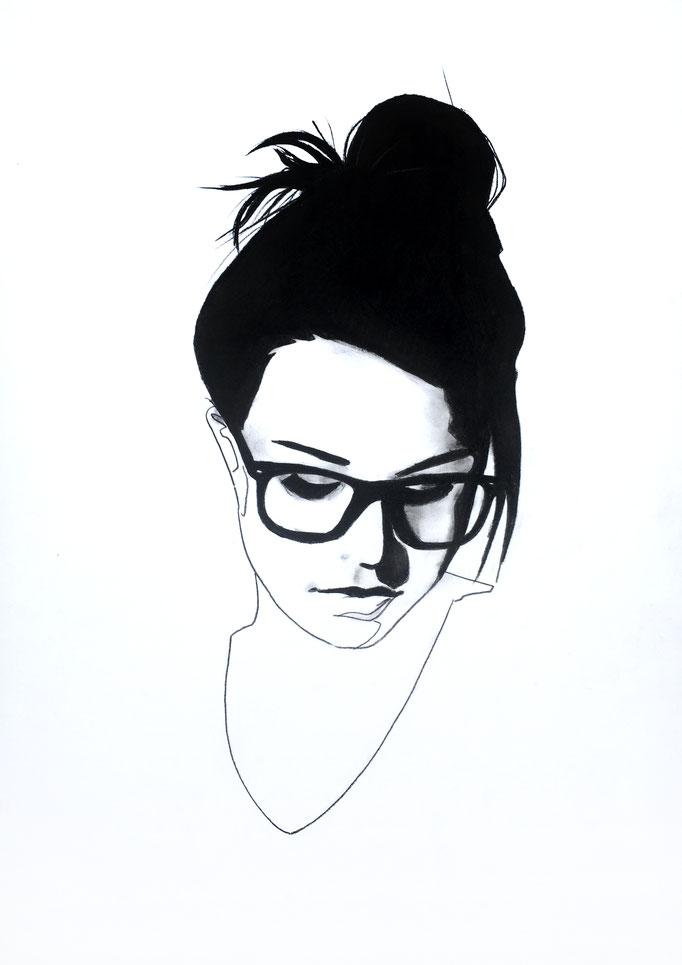 Nerdy girl | 42 x 30 cm | Eur 200