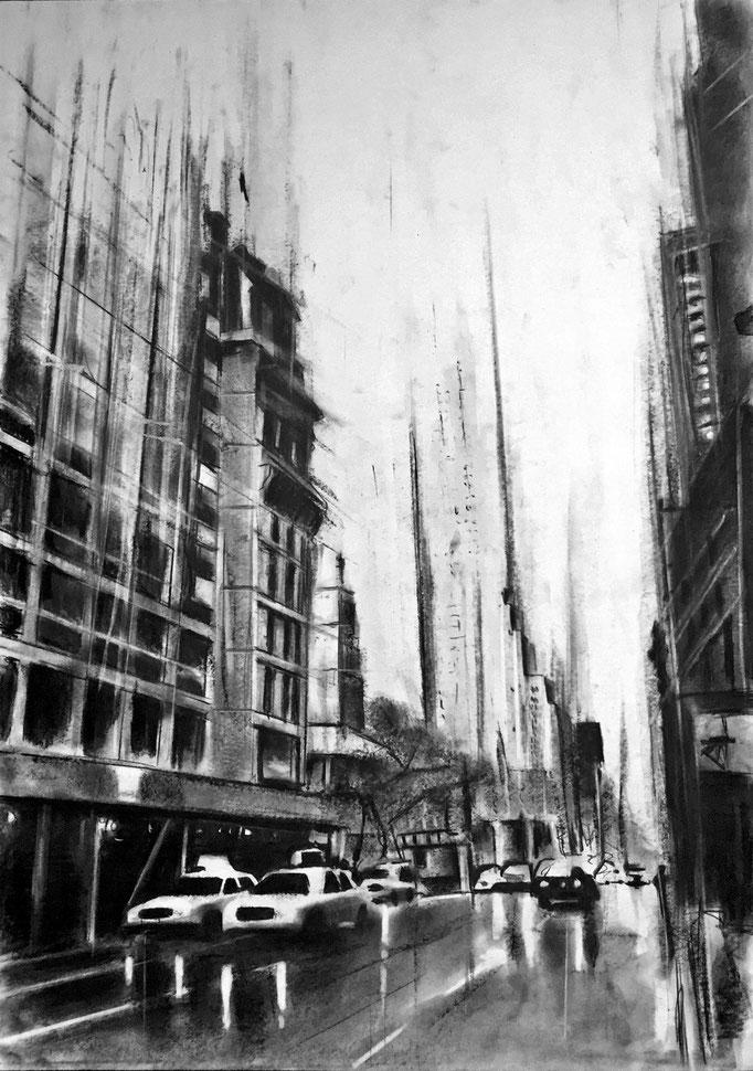 Rainy Streets | 59 x 42 cm | Eur 300
