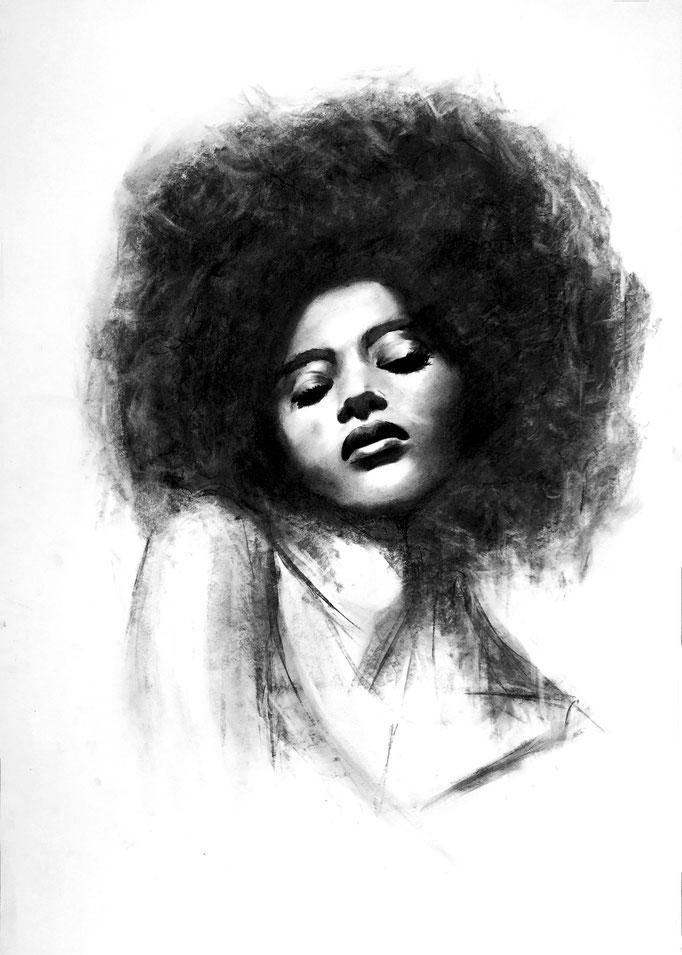 Afrogirl | 59 x 42 cm | Sold