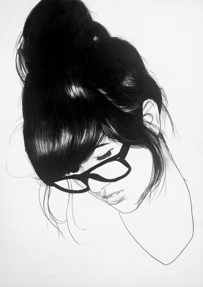 Geek girl | 42 x 30 cm | Eur 200
