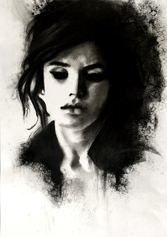 Black | 42 x 59 cm | Sold