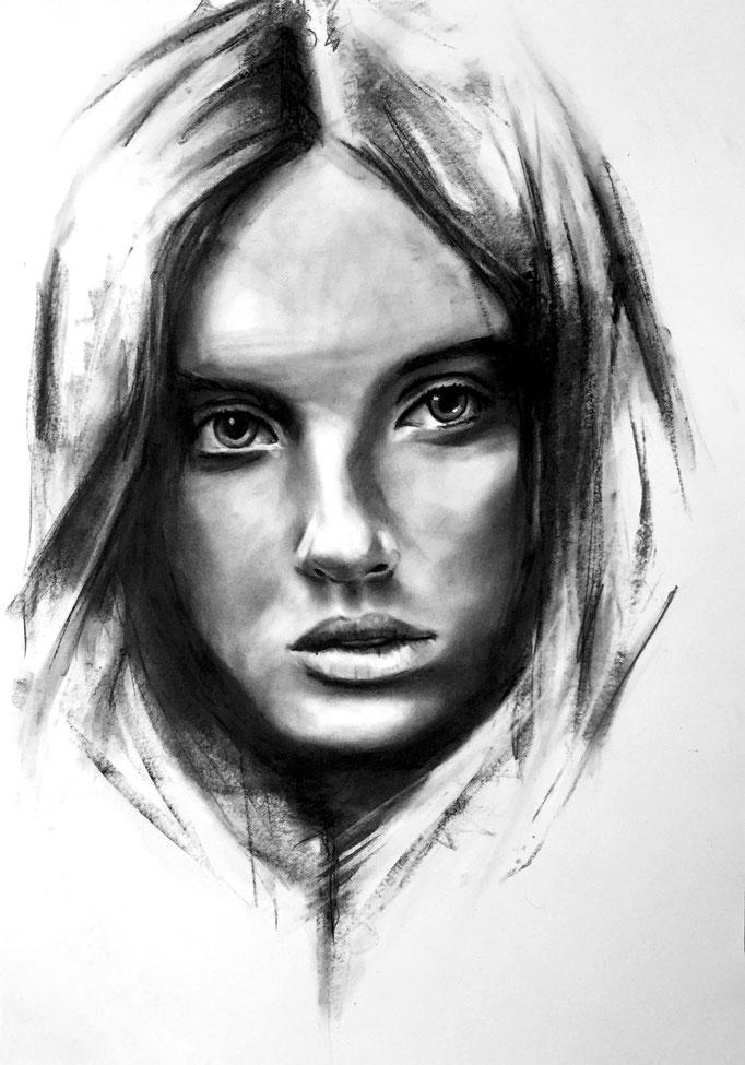 Mysterious girl | 42 x 59 cm | Eur 200