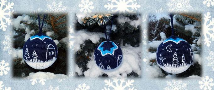 """Елочное украшение """"В новогоднюю ночь"""", Авторская работа / Christmas decoration """"Christmas night"""", The work of authorship"""