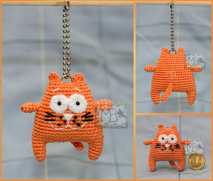 Хитрый рыжий Кот / Sly Red Cat 6 cm, a trinket