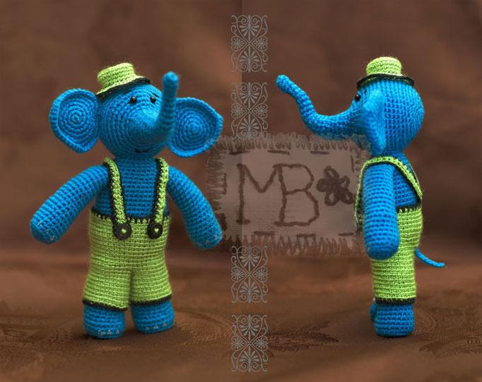 Слоник Папа / Elephant Father 16 cm  Авторская работа / The work of authorship