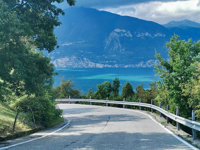 Wunderschöne Straßen rund um den Gardasee