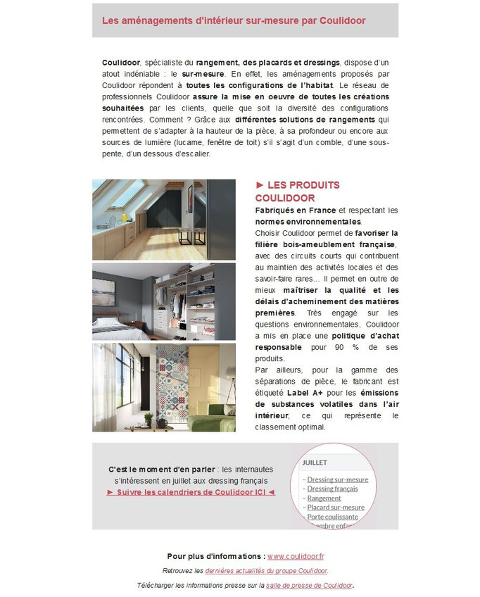 Archid'Ext, spécial Made in France - Coulidoor, rangement et dressing sur mesure