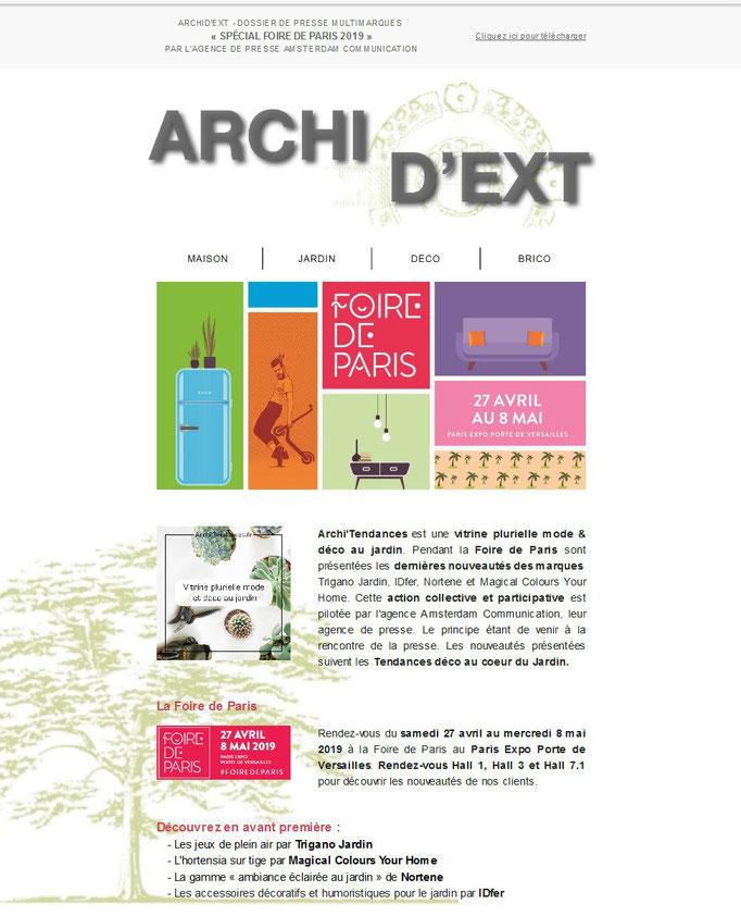 Archid'Ext, spécial Foire de Paris 2019