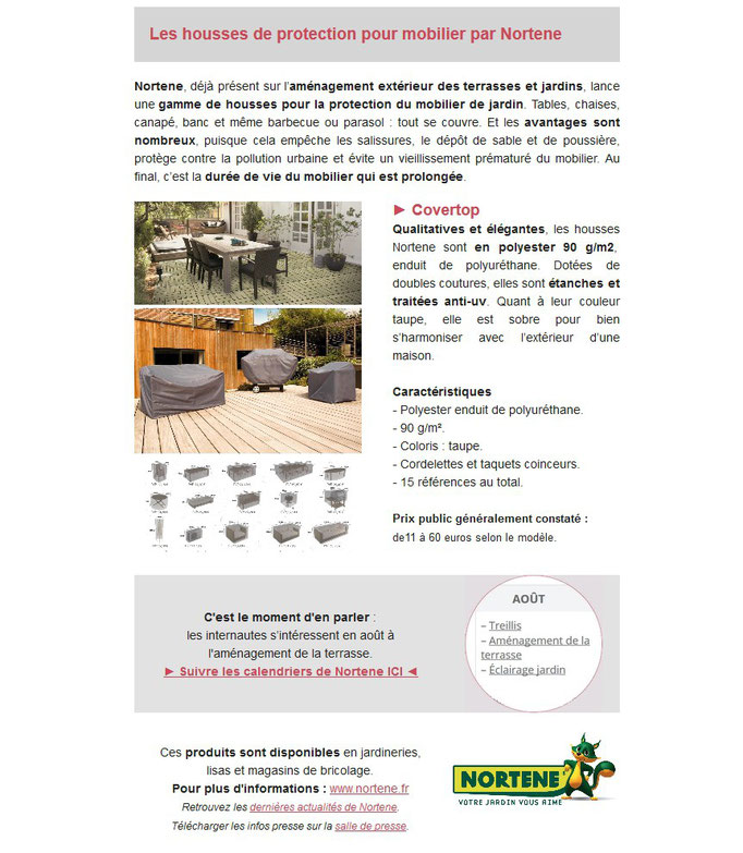"""Archid'Ext, spécial """"Je range ma terrasse"""" avec Nortene et les housses Covertop pour mobilier de jardin"""