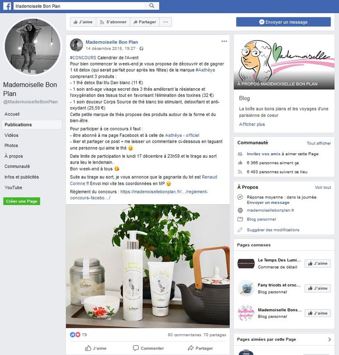 Jeu Facebook Mademoiselle Bon Plan