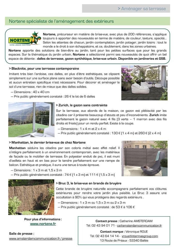 Archid'Ext ~ Mai - Spécial Jardins Jardin 2016 - Nortene