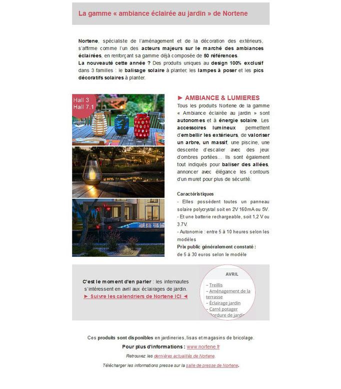 """Archid'Ext, spécial Foire de Paris 2019 - Nortene - gamme """"ambiance éclairée"""""""