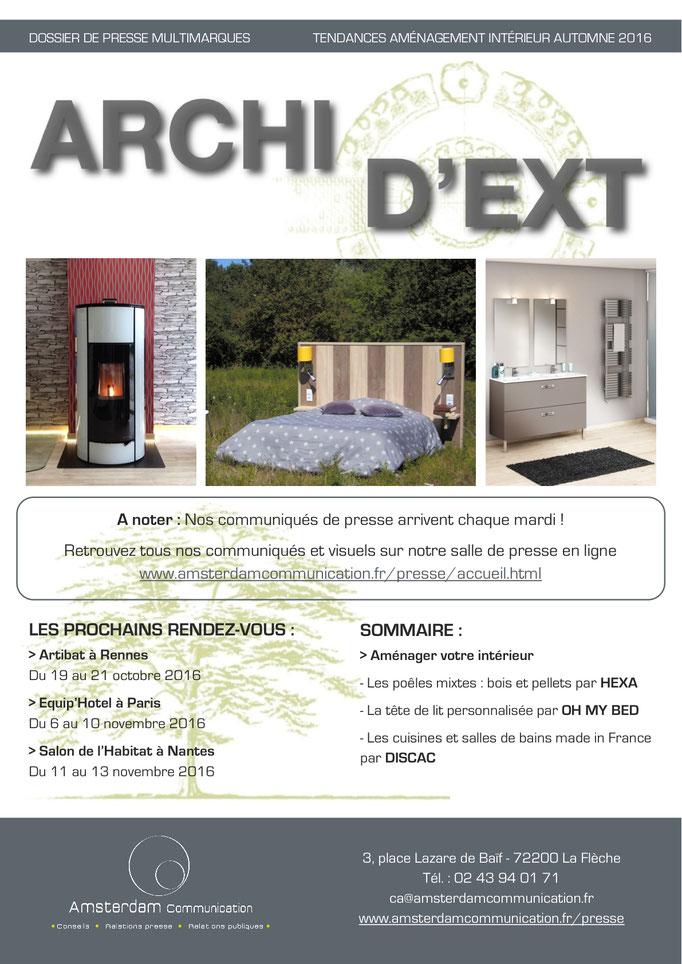Archid'Ext ~ Oct. - Aménagement Intérieur Automne 2016 - Amsterdam Communication