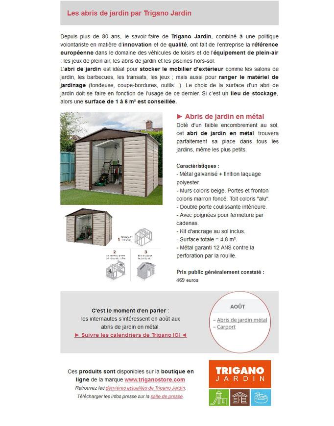 """Archid'Ext, spécial """"Je range ma terrasse"""" avec Trigano Jardin et sa gamme d'abris de jardin"""
