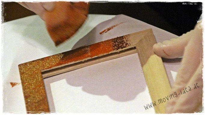 Verarbeitung von Rusty for paper nass-in-nass