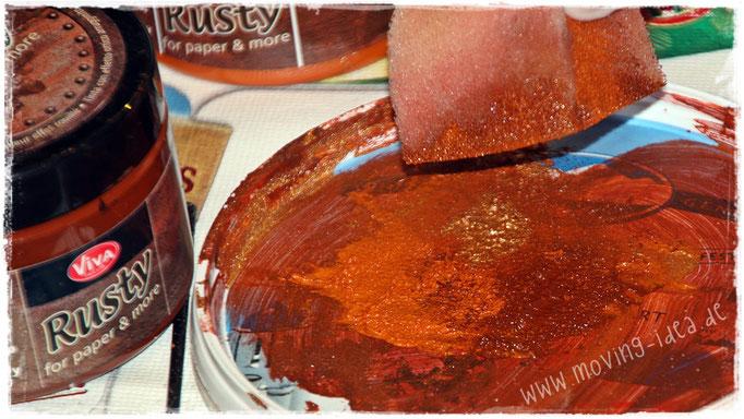 Farbpalette für Rosty-Verarbeitung