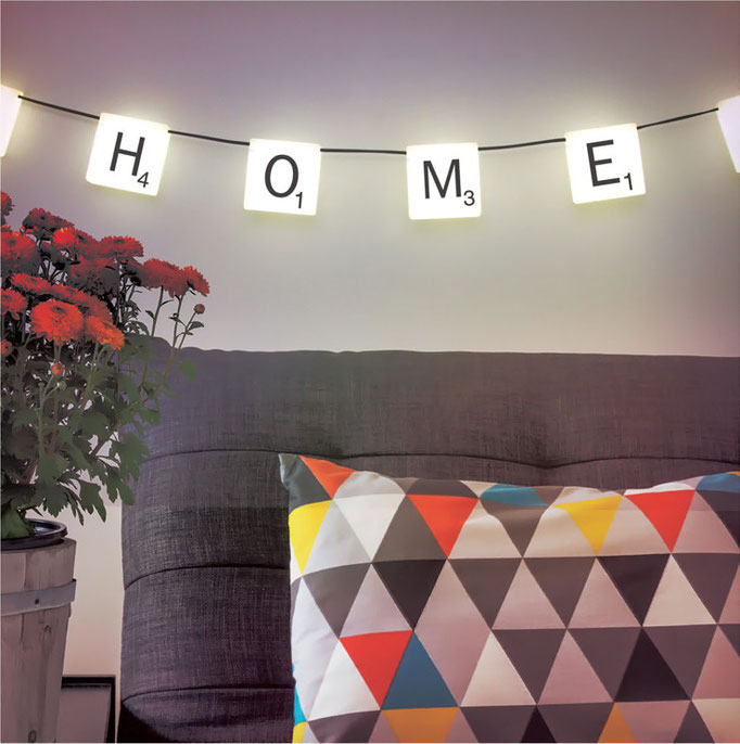 "Guirlande lumineuse ""Scrabble Light"" chez Bird on The Wire - 3.8m, 34€"