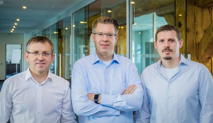 e42 Team Alex Koch, Frank Thelen, Marc Sieberger