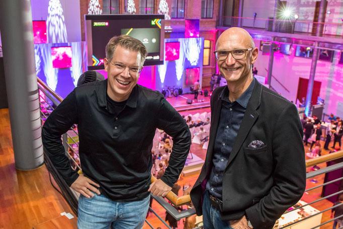 Frank and Tim Höttges (CEO Deutsche Telekom)