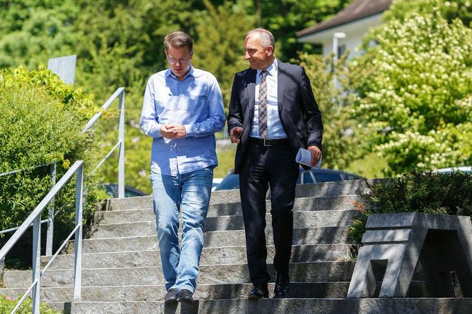 Frank and Adrian Hasler (Prime Minister of Liechtenstein)