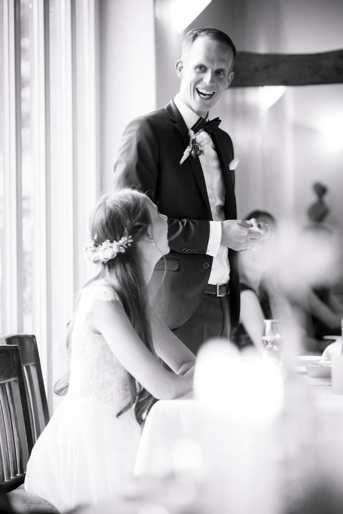 Hochzeitsreportage - Rede des Bräutigams