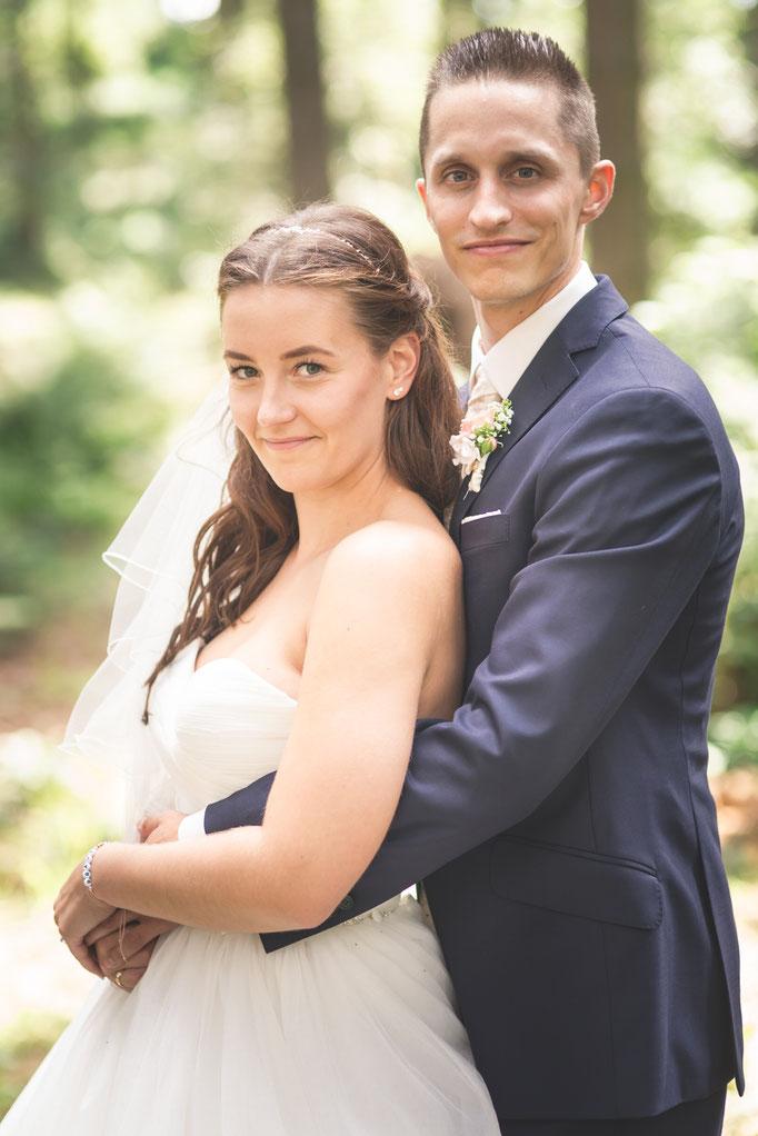 die Eheleute frisch getraut