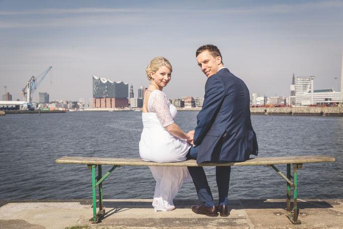 Hochzeitsreportage -Heiraten in Hamburg mit einer etwas anderen Perspektive