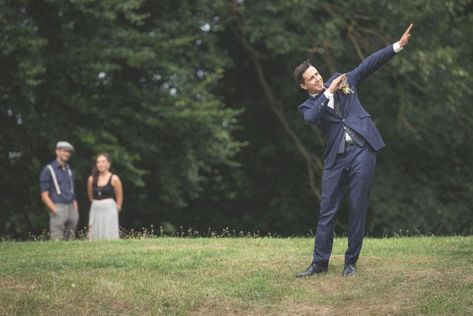 Vorfreude beim Bräutigam