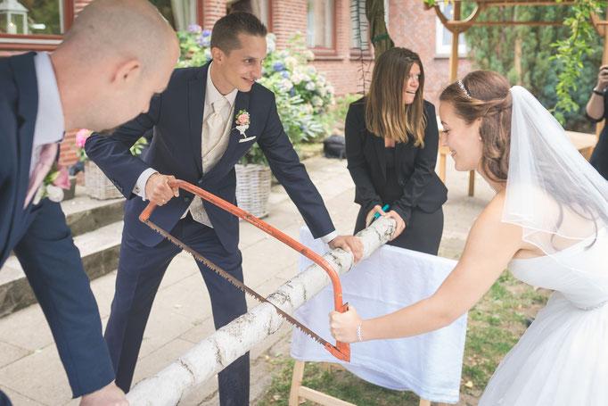 Irgendwie ist Sägen ein klarer Hochzeitstrend
