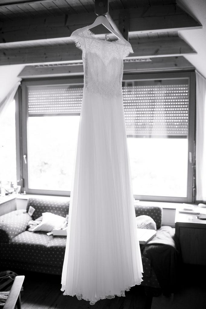 Hochzeitskleid wartet auf seinen Einsatz