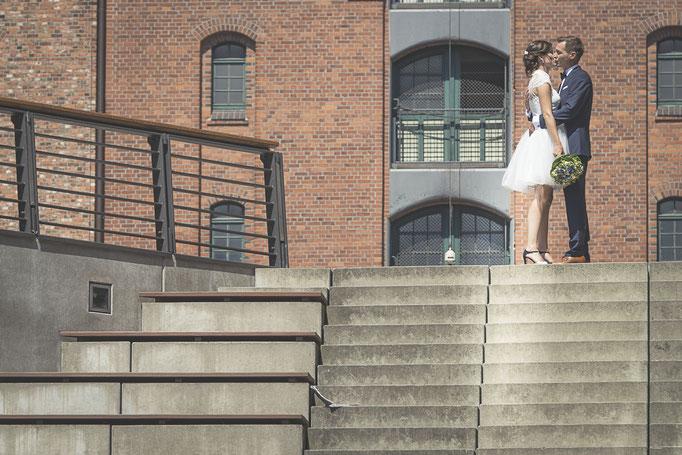 Hochzeitskulisse wie aus dem Bilderbuch - die Speicherstadt