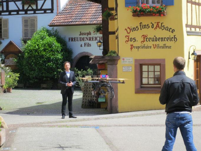 2013 : tournage de l'émission du village préféré des Français, avec Stéphane Bern