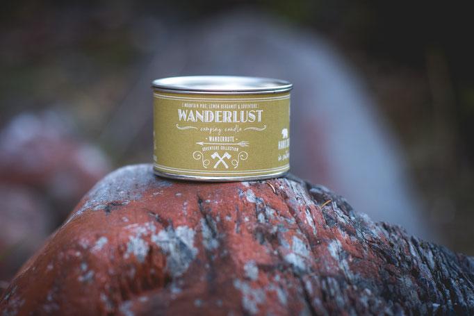 Pinienduft Soyawachs Kerze in einer wiederverwertbaren Blechdose für das perfekte Vanlive