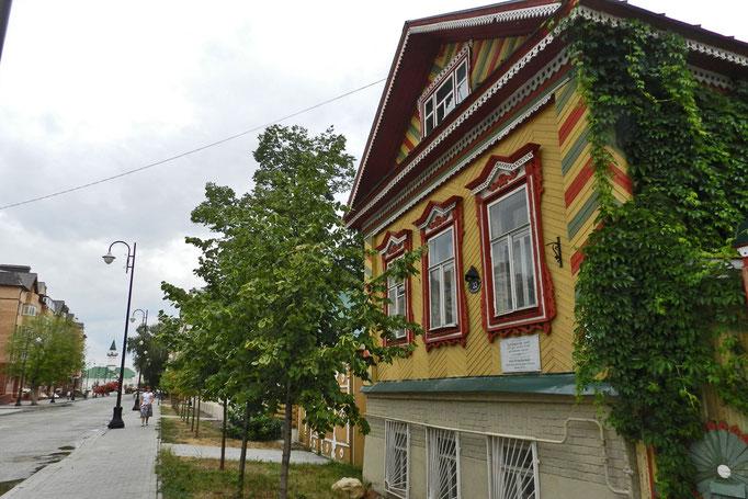 Typisches tatarisches Wohnhaus in Kasan