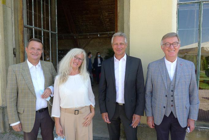 Thomas Lützelberger, Renate Ziegler, Bürgermeister Class und Manfred Setzer