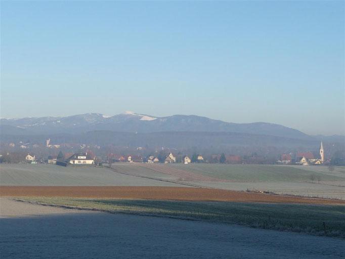 Vue hivernale du village (2010)