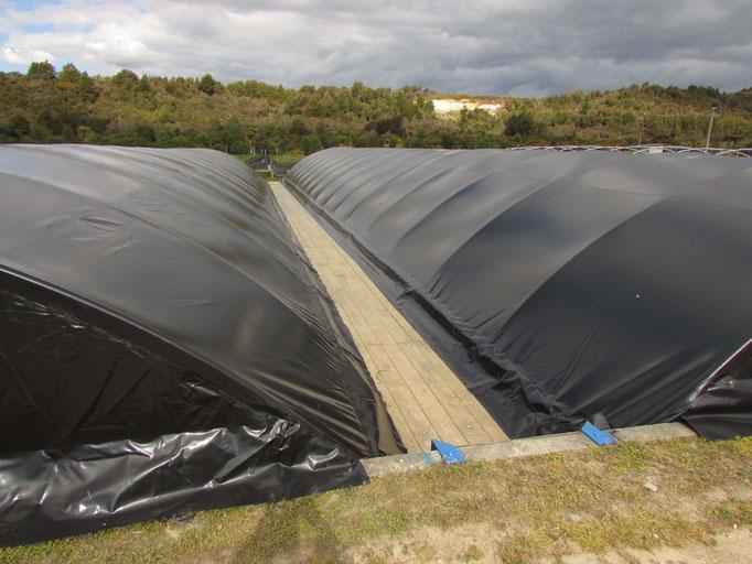 Aquaculture Pond Covers, Takaka, NZ