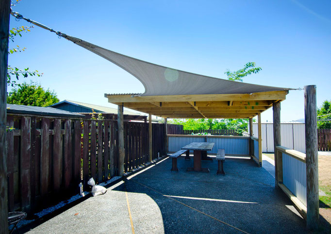 Shade Sail, Brightwater, Nelson, New Zealand