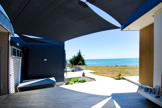 Shade Sail, Kina, Nelson, New Zealand