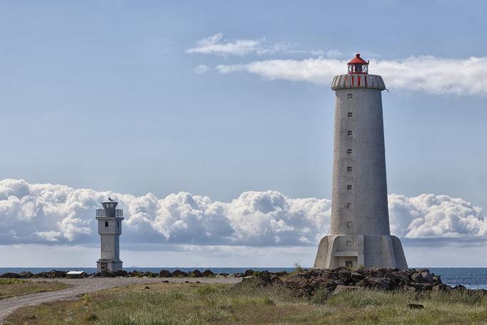 Akranes, alter und neuer Leuchtturm