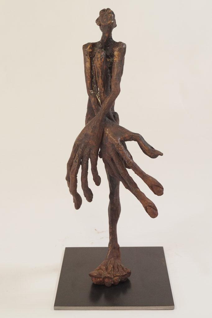 """SchamDi"" Edition 9+2E.A.Bronze 2016 35 x 15 x15cm"