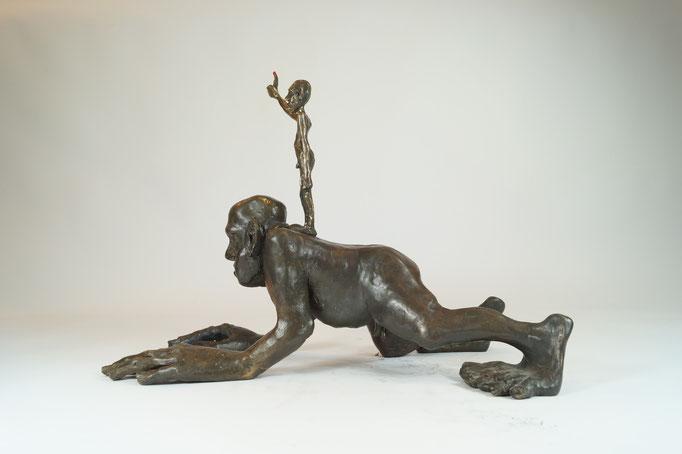 """ÜberIch"" Edition 5+2EA Bronze 38x50x28cm"