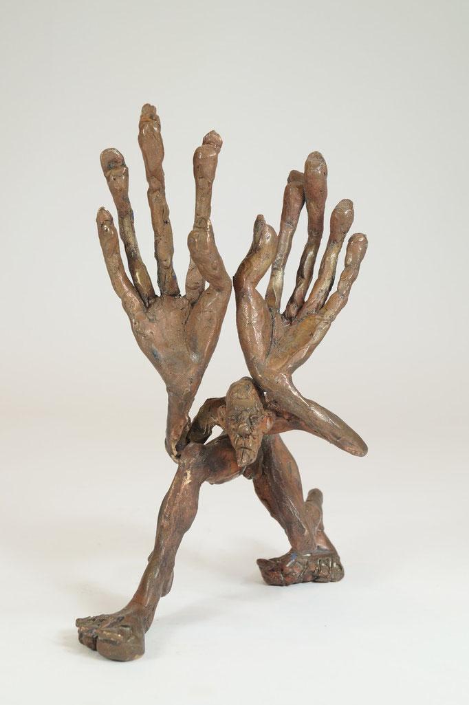 """Schlitzohr"" Edition 9+2EA Bronze 21x14x14cm"