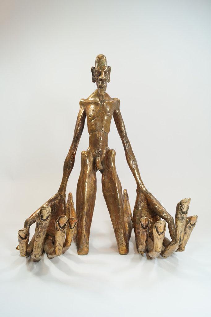 """""""Gebete sind schwer"""" Edition 5+1EA 66x55x45 Bronze 2015"""