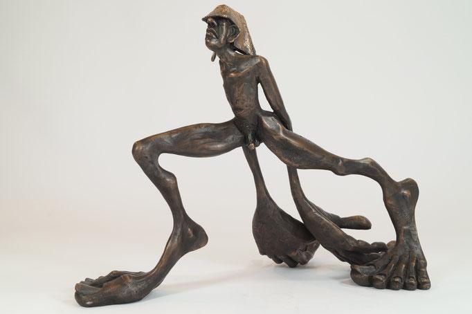 """""""Zeitschläger"""" Edition 24+3EA Bronze 32x48x28cm"""