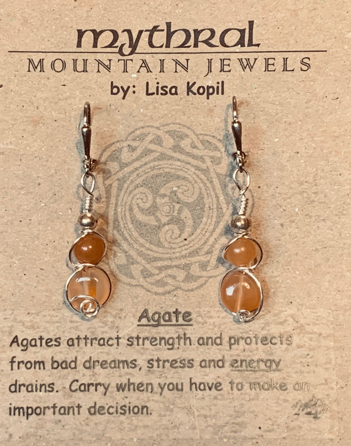 Earrings Gallery 2 Photo 15: Agate $25