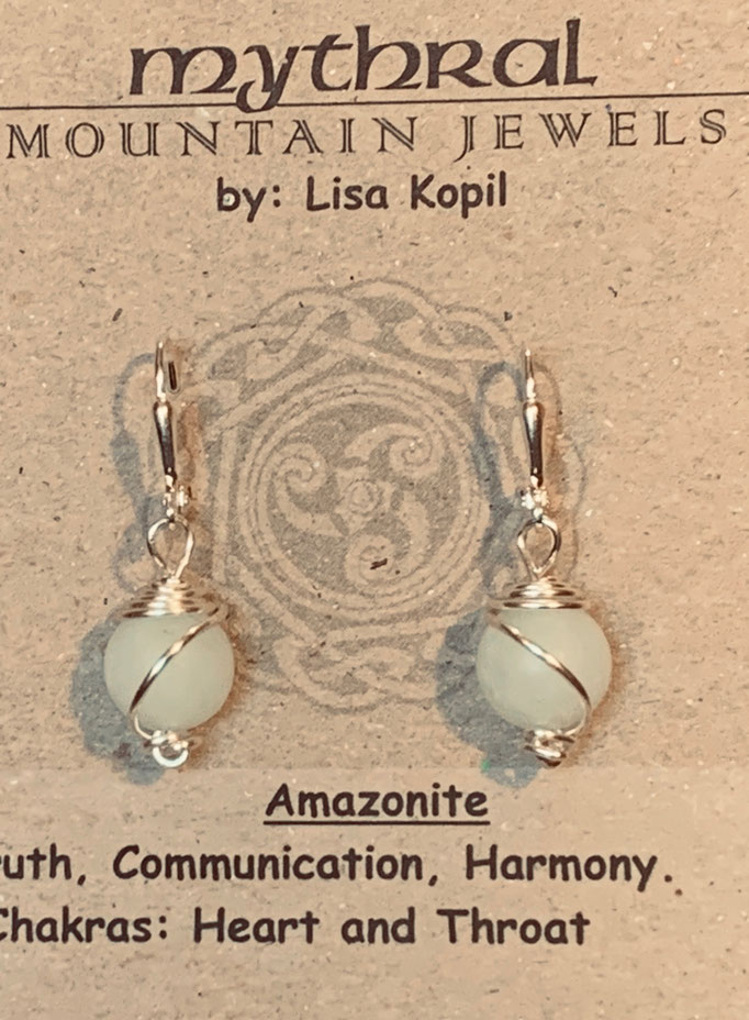 Earrings Gallery 1 Photo 4: Amazonite $25