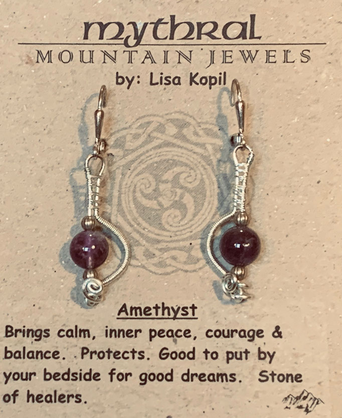 Earrings Gallery 1 Photo 10: Amethyst $30