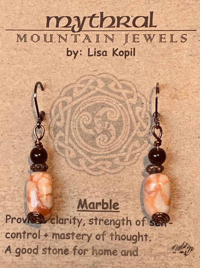 Earrings Gallery 2 Photo 17: Marble $25