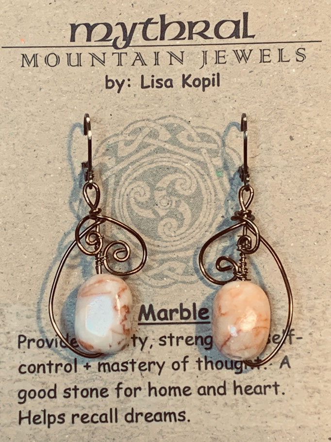 Earrings Gallery 2 Photo 6: Marble $30